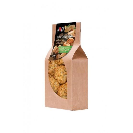 Flora Haferflocken-Kekse Karamell und Erdnüsse