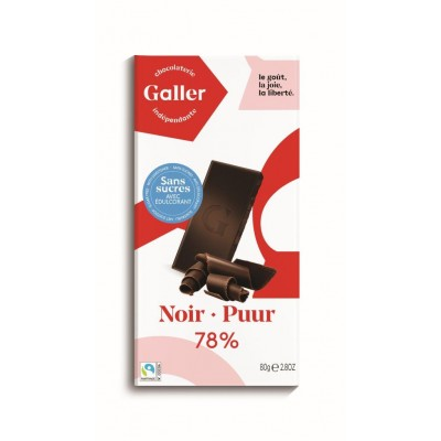 Galler The Tablet Dark 78% - No added sugar