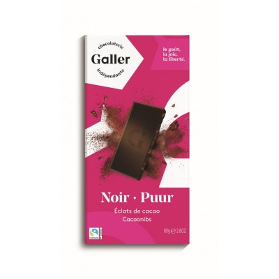 Galler Tablet Noir Intense 70% Eclats de Cacao